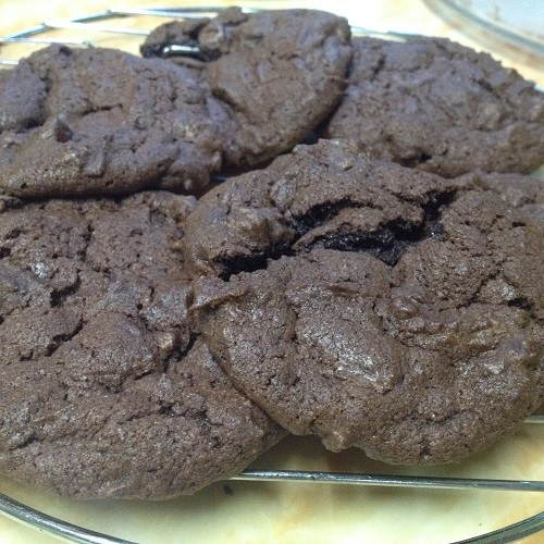 double choco chip cookies 2