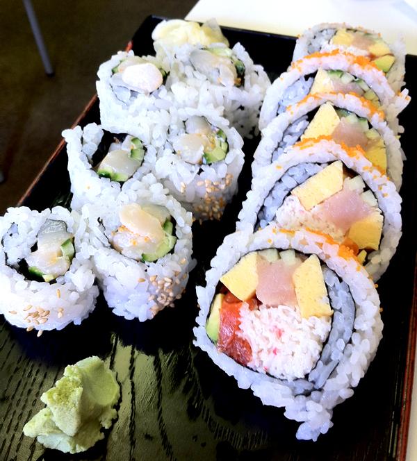 Chopped Scallop Roll - $3.75 Sakura Roll - $5.50
