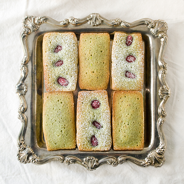 Pistachio Raspberry Financier