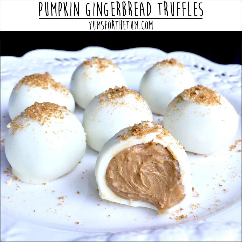 Pumpkin Gingerbread Truffles