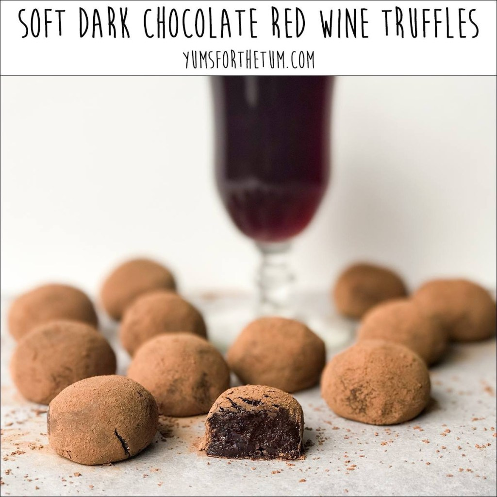 Soft Dark Chocolate Red Wine Truffles