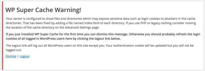 index.html warnings