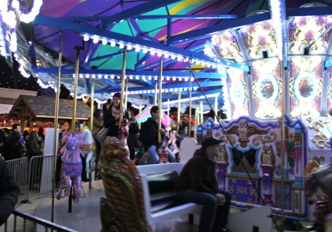 Carousel Ride at the German Vancouver Christmas Market via ZaagiTravel.com