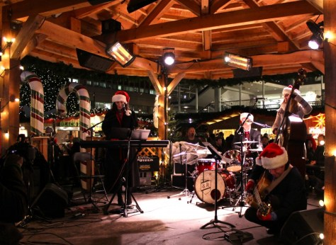 Live band at the German Vancouver Christmas Market via ZaagiTravel.com
