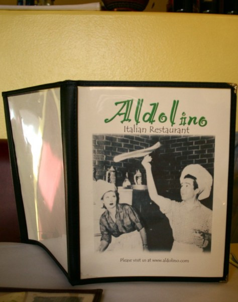Menu at Aldolino's Italian Food Restaurant in Azusa, California via ZaagiTravel.com