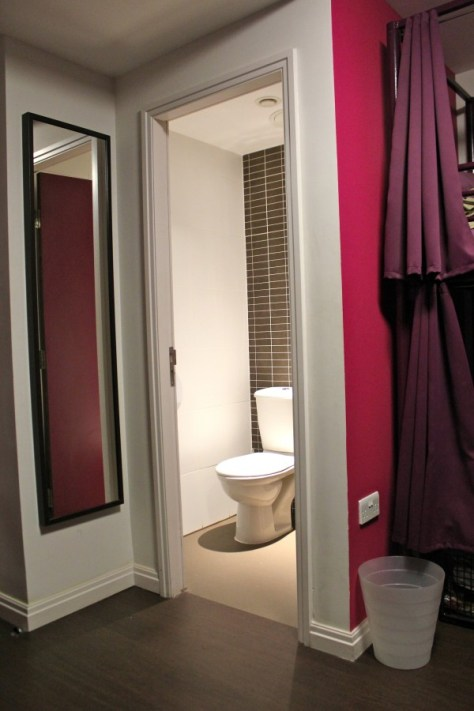 Bathroom in Safestay hostel in London, England via ZaagiTravel.com