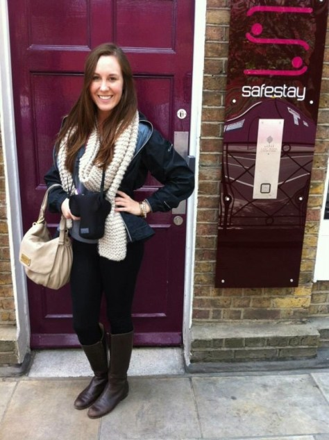 Front door of Safestay hostel in London, England via ZaagiTravel.com