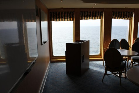 Classroom on the MV Explorer Cruise Ship from Semester at Sea Study Abroad via ZaagiTravel.com