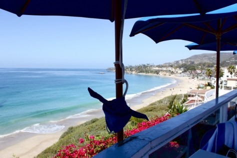 View from the Cliff Restaurant in Laguna Beach, Orange County, California via ZaagiTravel.com