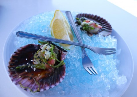 Scallops Wasabi from the Cliff Restaurant in Laguna Beach, California via ZaagiTravel.com