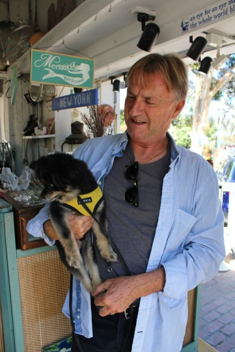 Rudi and Bear at Rudi's Seashell shop in the Laguna Village in Laguna Beach, Orange County, California via ZaagiTravel.com