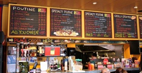 Poutine Menu at La Belle Patate in Vancouver, British Columbia, Canada via ZaagiTravel.com