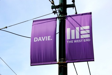 Davie Street sign in the West End of Vancouver, British Columbia, Canada via ZaagiTravel.com
