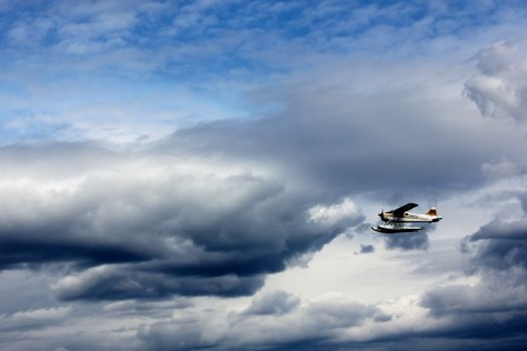 A water plane over the beach at Stanley Park in Vancouver, British Columbia, Canada via ZaagiTravel.com