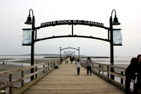 White Rock Pier near the US/Canada border in British Columbia via ZaagiTravel.com