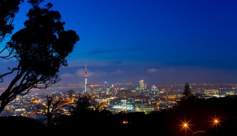 Auckland, New Zealand from the summit of Mt. Eden by Harrison Gulliver