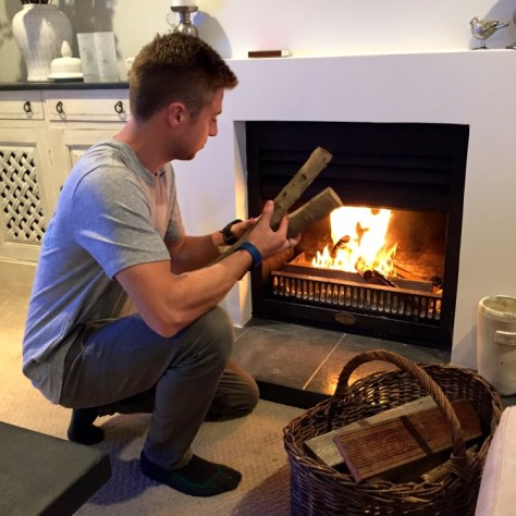 James making a fire during the Antarctic chill in New Zealand via ZaagiTravel.com