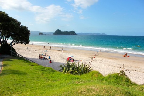 Hahei Beach in Coromandel Peninsula, New Zealand via ZaagiTravel.com