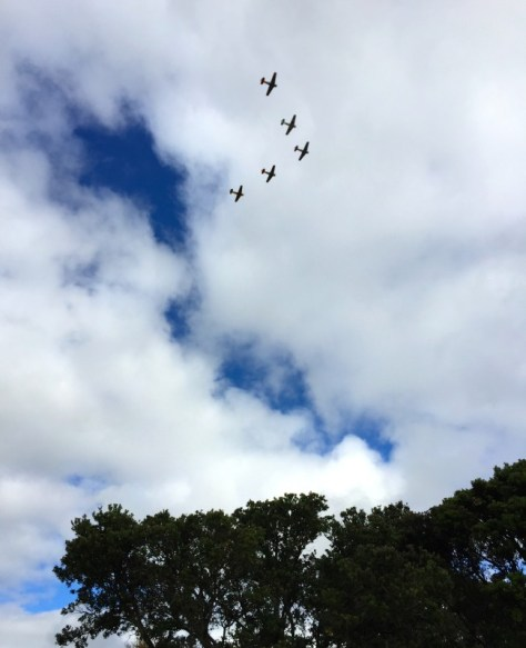 Planes flying over Howick on Anzac Day morning via ZaagiTravel.com