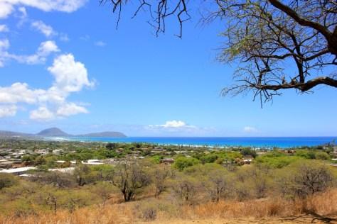 Views from parking lot at Diamond Head in Honolulu, Oahu, Hawaii via ZaagiTravel.com