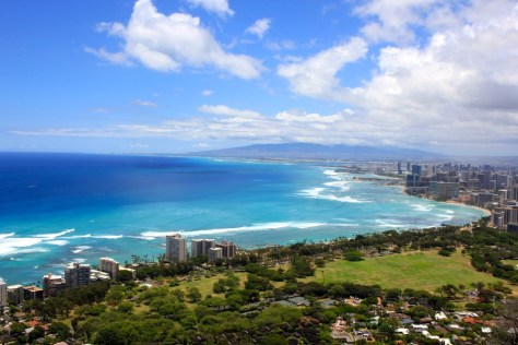 Views from Diamond Head in Honolulu, Oahu, Hawaii via ZaagiTravel.com