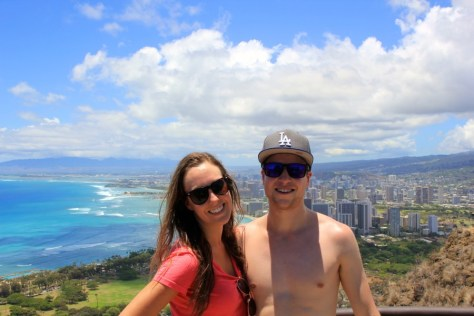 Alexa Rae & James at Diamond Head in Honolulu, Oahu, Hawaii via ZaagiTravel.com