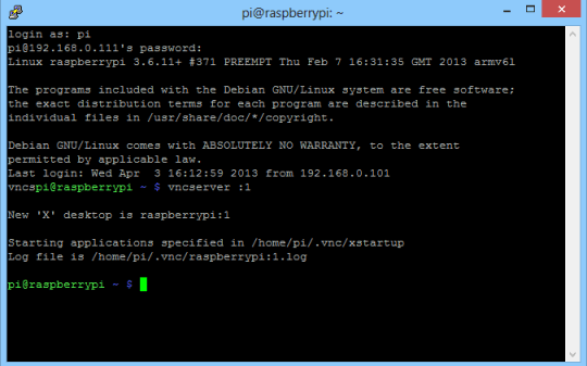 PuTTY from Login to VNCServer