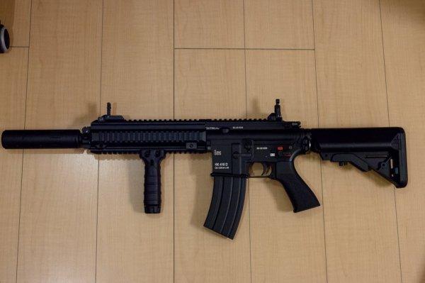 HK416 HK416D DEVGRUカスタムの付属品を全部付けるとこんな感じです...   「