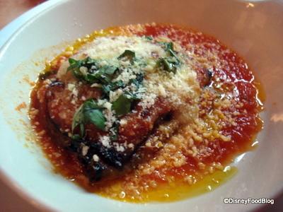 eggplant parm at tutto italia
