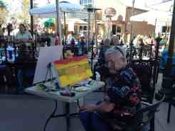 Graham Knuttel painting at Raglan Road