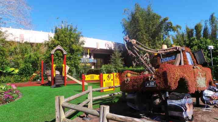 Kids playground behind Mater