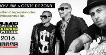Sesac Latina Artists Nicky Jam &Gente De Zona