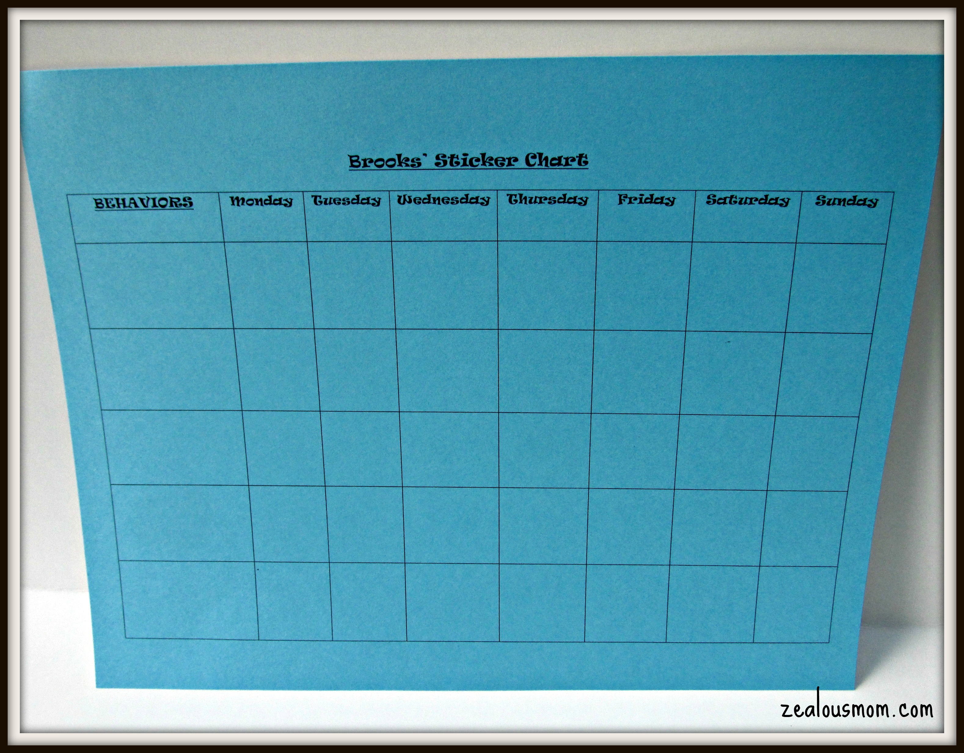 incentive chart template