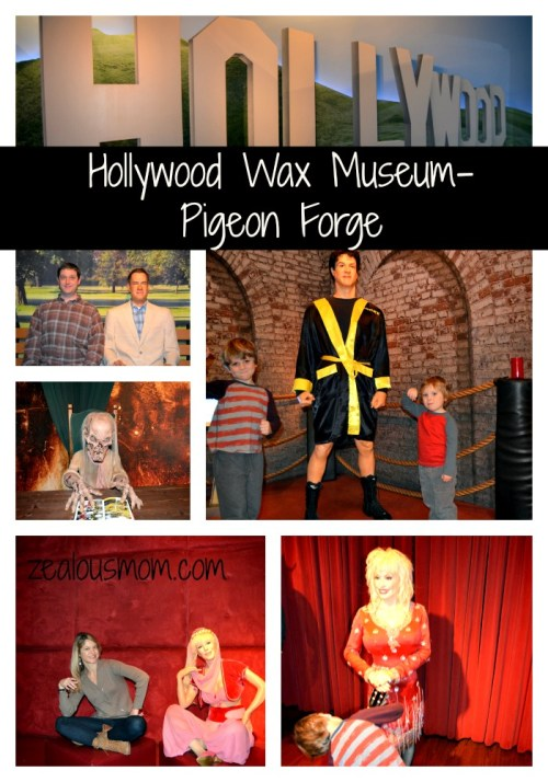 Hollywood Wax Museum-Pigeon Forge, TN @zealousmom.com #travel #Tennessee