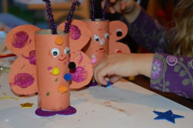 toilet roll love bug craft