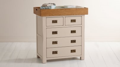 chest of drawers and changing table