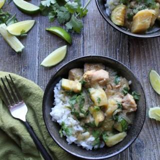 instantpot paleo green curry chicken