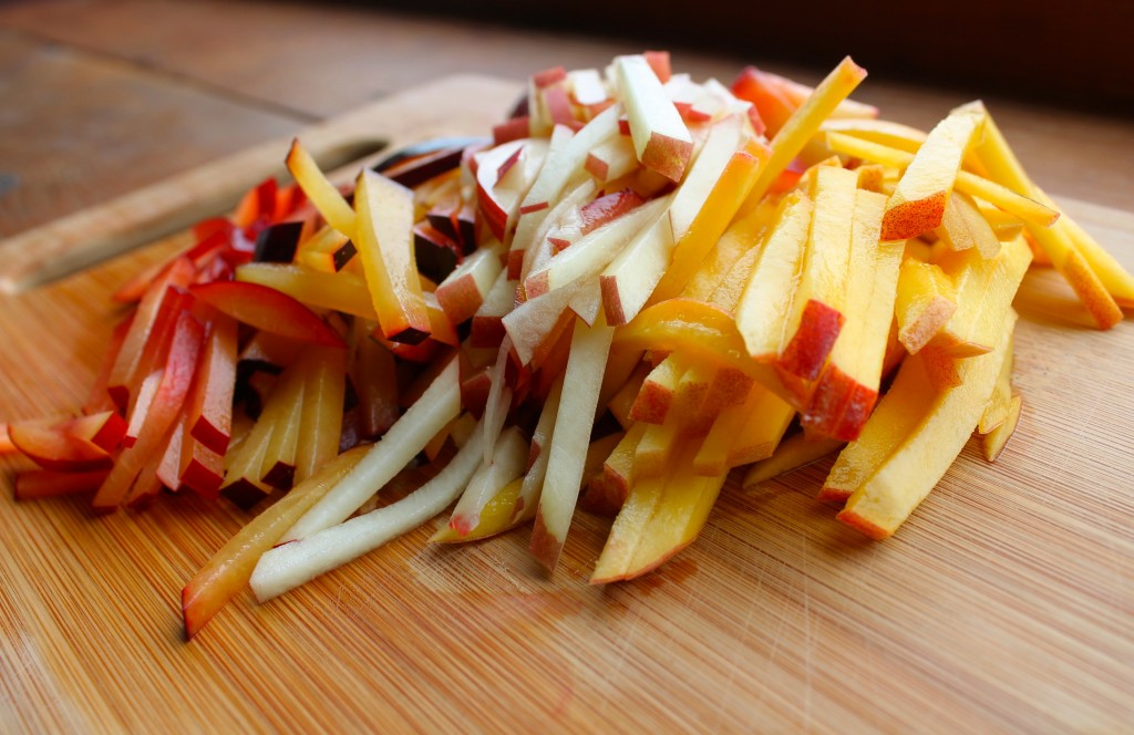 stone fruit julienne