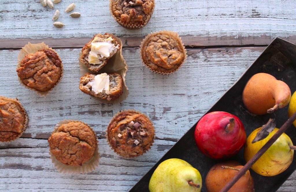 pear cardamom muffin