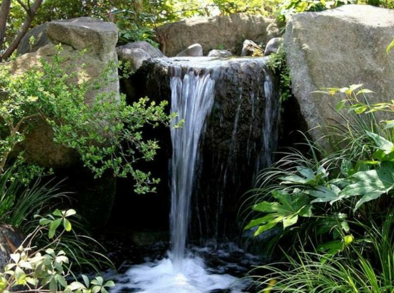 Gartenteich Mit Wasserfall Selber Bauen. Wasserfall Garten ...