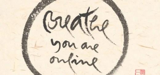 calligrafia thay breathe you are online