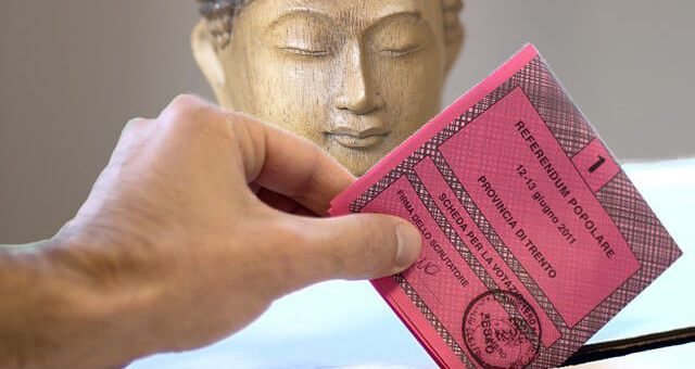 elezioni con il buddha