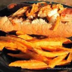 Koreamerican creation: Kimchi buffalo hot dog