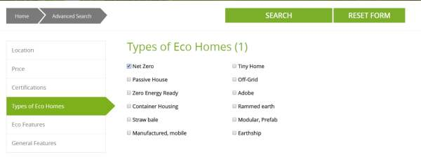 VGH Types of eco homes, net zero