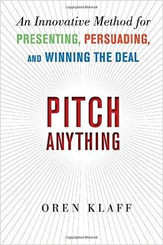"""Portada del libro """"Pitch Anything"""" de Oren Klaff"""