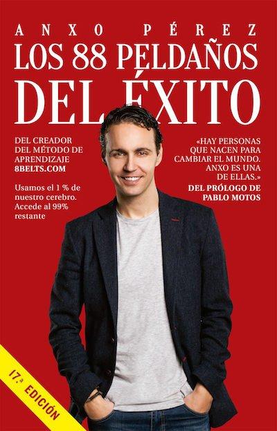 """Portada del libro """"Los 88 peldaños del éxito"""" de Anxo Pérez"""
