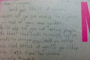 This 9-Year-Old Girl Wrote To Congress Demanding Marriage Equality