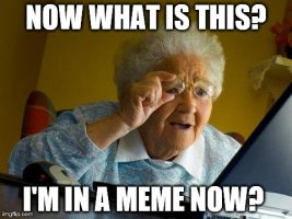 Grandma finds out she is in a meme