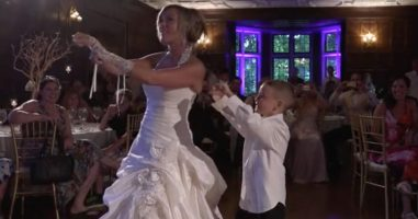Her Dad Passed Away, So Someone Special Danced With This Bride At Her Wedding