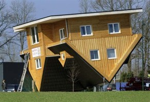 As Creative As This Upside Down House Is, Look At The Bathroom. How's That Work?